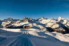 Rastro del invierno en Riffelberg Imagenes de archivo