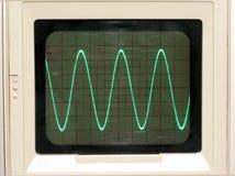 Rastro del osciloscopio Imágenes de archivo libres de regalías