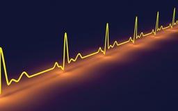 Rastro del pulso stock de ilustración