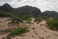 Rastro del punto de Kaena, Oahu imagenes de archivo