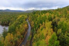 Rastro en bosque del otoño Fotografía de archivo libre de regalías