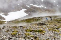 Rastro en el glaciar marcial fotografía de archivo libre de regalías