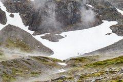Rastro en el glaciar marcial imágenes de archivo libres de regalías