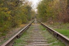Rastro ferroviario viejo Imagen de archivo libre de regalías