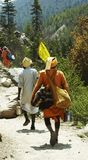 Rastro a la fuente de Ganga Fotografía de archivo