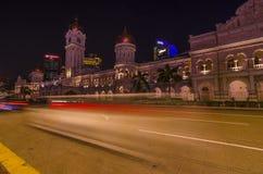 Rastro ligero cerca del edificio de Sultan Abdul Samad Imagenes de archivo