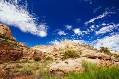 Rastro magnífico del lavado, parque nacional del filón capital, Utah, los E.E.U.U. Imagenes de archivo
