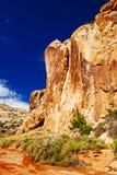 Rastro magnífico del lavado, parque nacional del filón capital, Utah, los E.E.U.U. Fotos de archivo