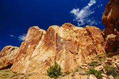 Rastro magnífico del lavado, parque nacional del filón capital, Utah, los E.E.U.U. Imágenes de archivo libres de regalías