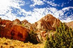 Rastro magnífico del lavado, parque nacional del filón capital, Utah, los E.E.U.U. Fotos de archivo libres de regalías