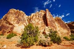 Rastro magnífico del lavado, parque nacional del filón capital, Utah, los E.E.U.U. Fotografía de archivo