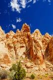 Rastro magnífico del lavado, parque nacional del filón capital, Utah, los E.E.U.U. Imagen de archivo