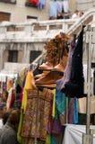 Rastro, mercado libre en Madrid fotografía de archivo