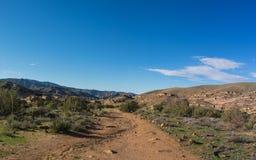 Rastro pacífico de la cresta en California meridional fotografía de archivo