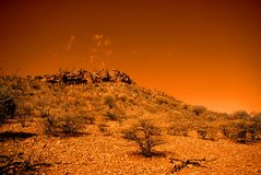 Rastro que recorre anaranjado imagen de archivo libre de regalías