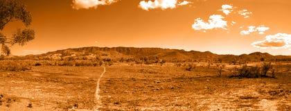 Rastro que recorre a las colinas del interior Foto de archivo