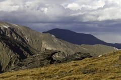 Rastro Ridge Road Alpine Landscape Foto de archivo libre de regalías