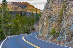 Rastro Ridge Road, Rocky Mountain National Park Foto de archivo libre de regalías