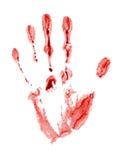 Rastro sangriento Foto de archivo libre de regalías
