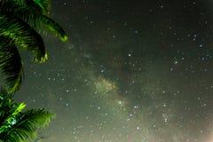 Rastro superior de la elevación de Milkyway foto de archivo