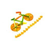 Rastro vegetal de la bici Fotos de archivo