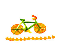 Rastro vegetal de la bici Fotografía de archivo libre de regalías