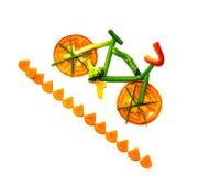 Rastro vegetal de la bici Imagen de archivo
