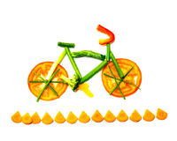 Rastro vegetal de la bici Foto de archivo libre de regalías