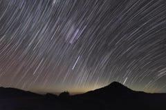 Rastro y montaña de la estrella Imágenes de archivo libres de regalías