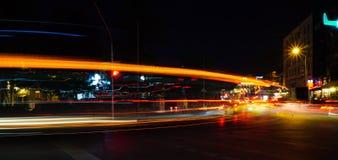 Rastros abstractos coloridos de la luz Fotografía de archivo