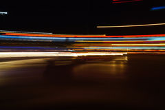 Rastros abstractos coloridos de la luz Imagen de archivo