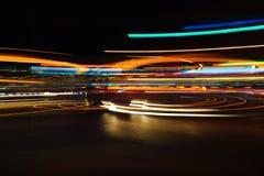 Rastros abstractos coloridos de la luz Imagen de archivo libre de regalías