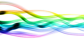 Rastros abstractos de la luz Imagen de archivo libre de regalías