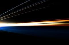 Rastros abstractos de la luz del coche Fotografía de archivo
