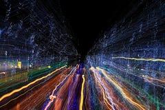 Rastros coloridos abstractos de la luz Imagen de archivo