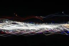 Rastros coloridos abstractos de la luz Fotos de archivo