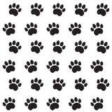 Rastros de Cat Textile Pattern Imagen de archivo