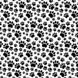 Rastros de Cat Textile Pattern Imagen de archivo libre de regalías