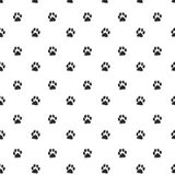 Rastros de Cat Textile Pattern. Vector inconsútil Foto de archivo libre de regalías