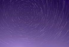 Rastros de estrellas en cielo Imagen de archivo