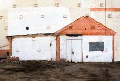 Rastros de la casa demolida Imagen de archivo