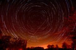 Rastros de la estrella Foto de archivo libre de regalías