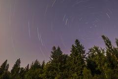 Rastros de la estrella Imagen de archivo