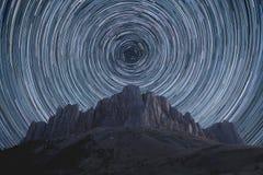Rastros de la estrella fotografía de archivo libre de regalías