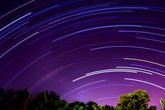 Rastros de la estrella fotos de archivo
