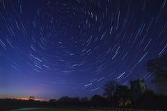 Rastros de la estrella - astronomía Imagen de archivo libre de regalías