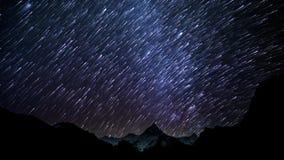 Rastros de la estrella del cielo almacen de metraje de vídeo