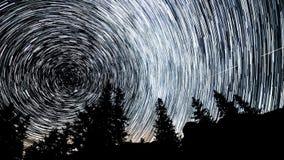 Rastros de la estrella polar almacen de metraje de vídeo