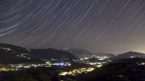 Rastros de la estrella sobre el valle almacen de metraje de vídeo