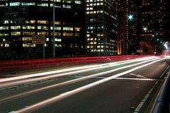 Rastros de la luz Fotos de archivo